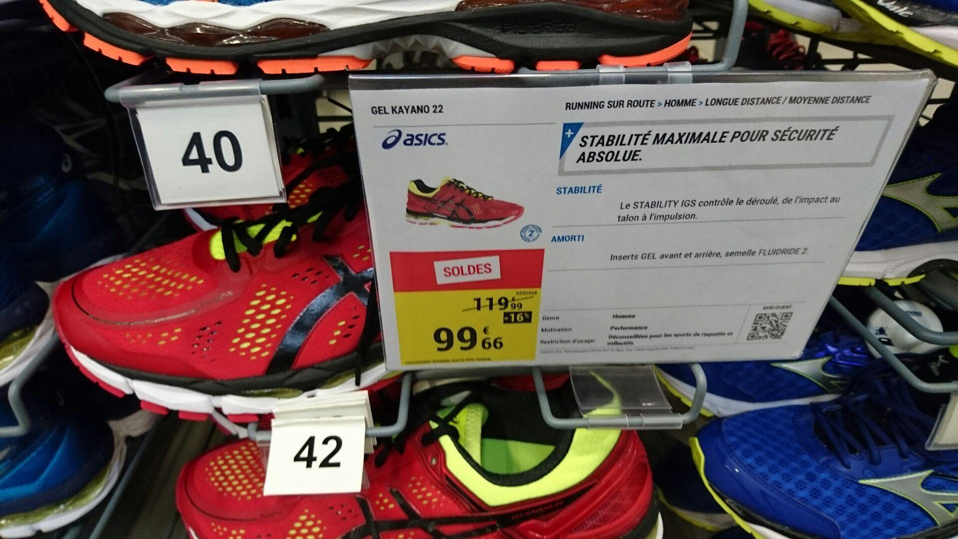 Chaussures running Asics Kayano 22 - Rouge
