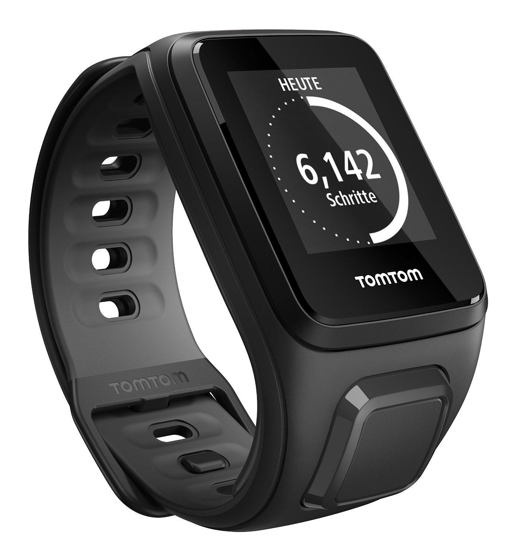 Montre GPS TomTom Runner 2 Cardio - Bracelet Fin Noir / Anthracite Fin