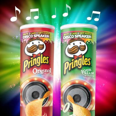Enceinte Disco offerte pour 2 boites de Pringles achetés (2€ de port)