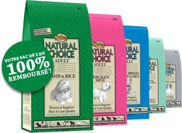 2 sacs de croquettes pour chiens de 2KG Natural Choice offerts (via ODR)