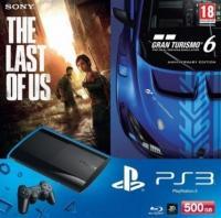 Pack Playstation 3 UltraSlim 500go noire Gran Turismo 6 et The Last Of Us