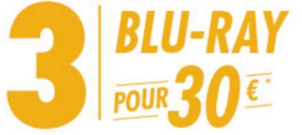 3 Blu-Ray parmi une sélection