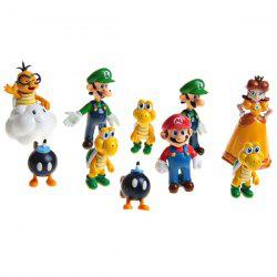 Lot de 10 figurines Super Mario Bros : Mario, Luigi, Peach etc.