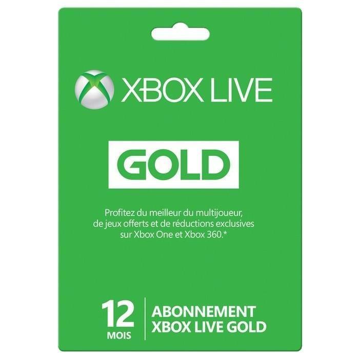 Abonnement de 12 mois au Xbox Live Gold