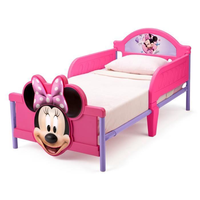 Lit pour enfant Delta Children Minnie (70 x 140 cm) + 2 bons d'achats de 12 ou 24 € (CDÀV)