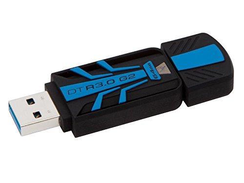 Clé USB 3.0 Kingston DataTraveler R3.0 G2, Étanche et Antichoc (jusqu'à 120Mo/s) - 64 Go