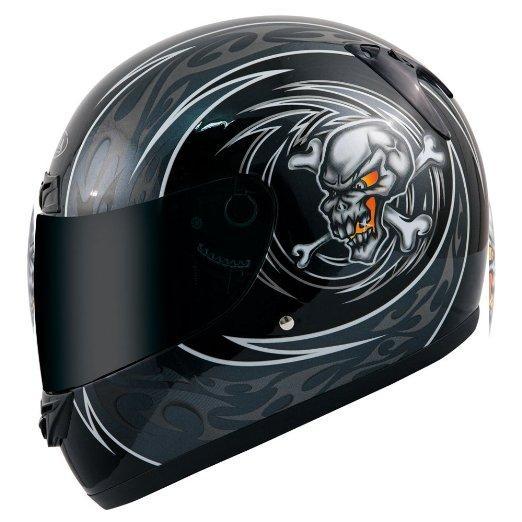 Casque Moto Intégral Akira Kitami 26113  - Noir, Taille M