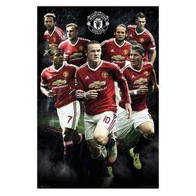 Affiche Manchester United 2015-16 - 61 x 92cm