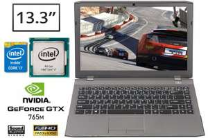 """PC portable pour gamers CLEVO W230ST - 13.3"""", Intel Haswell GTX 765M 2GO, SSD... 2KG - Sans OS"""