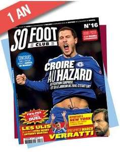30% de réduction sur les abonnements aux magazines du groupe So Press - Ex : Abonnement d'1 an au magazine So foot CLub