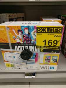 Console Nintendo Wii U 8 go wii remote plus avec Nintendo Land just dance