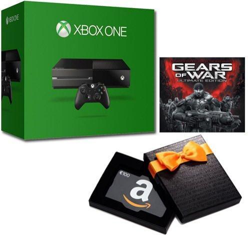 Pack console Microsoft Xbox One (500 Go) + Gears of War (dématérialisé) + 100€ en carte cadeau