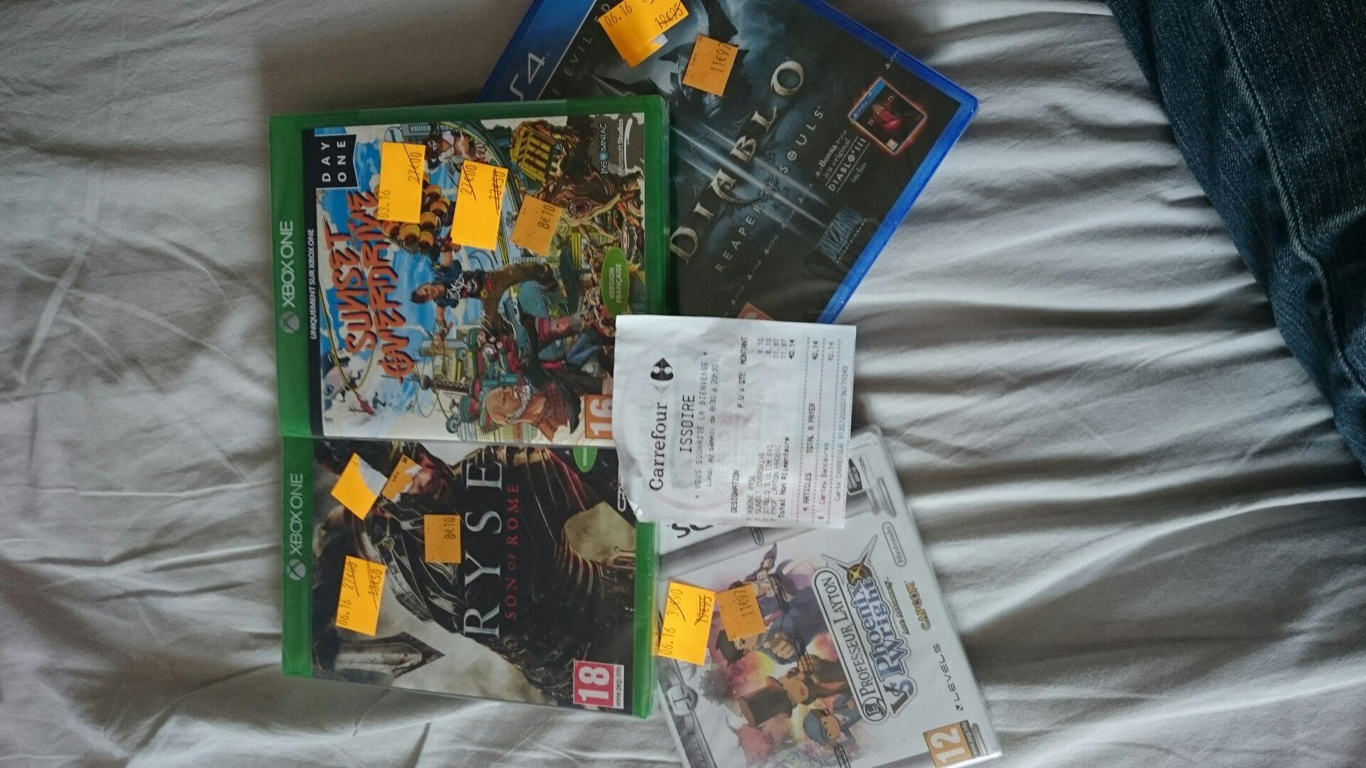 Sélection de jeux vidéos en promotion - Ex : Jeu Diablo 3 definitive edition sur Xbox One et PS4