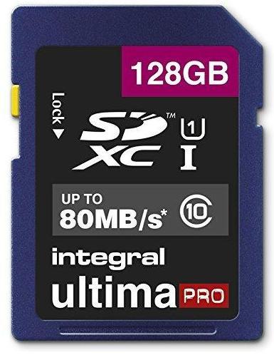 Carte mémoire SDXC Integral Ultima Pro Classe 10 (jusqu'à 80 Mo/s) - 128 Go