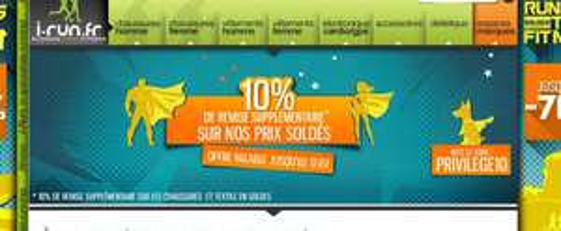 -10 % supplementaires sur produits deja soldés