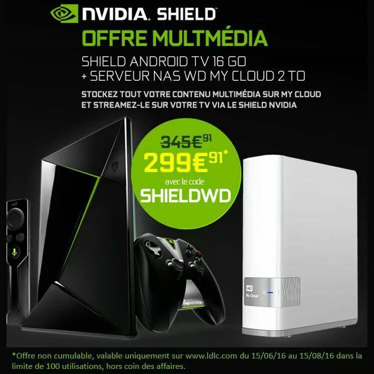 Serveur NAS Western Digital My Cloud (2 To) + console nVidia Shield (16 Go)
