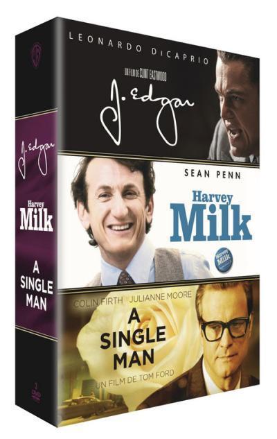 Coffret DVD - A Single Man, Harvey Milk et J. Edgar (3 disques)