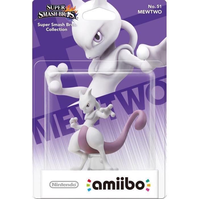 Sélection de figurines Nintendo amiibo en promotion - Ex : Mewtwo Super Smash Bros N°51