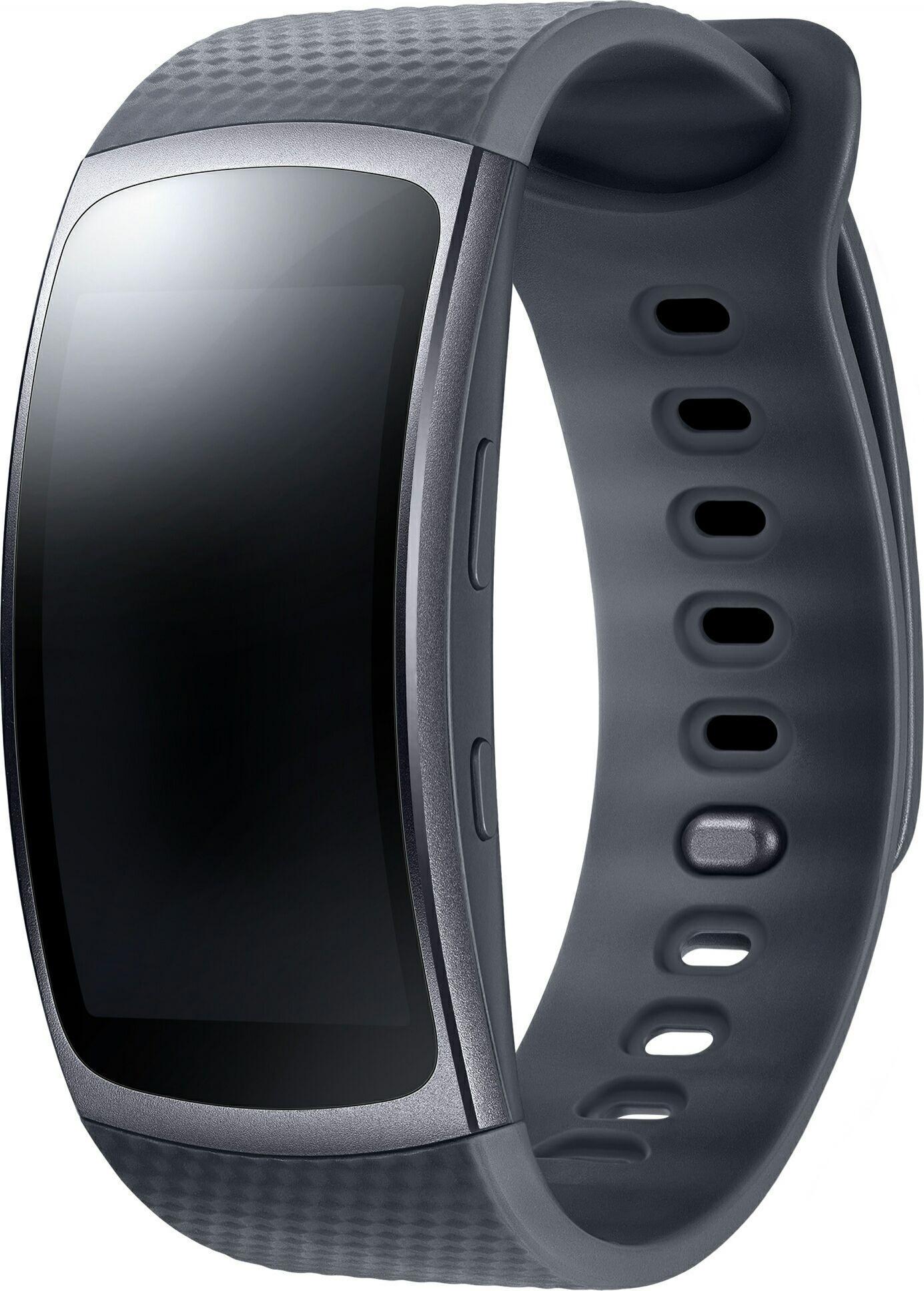Bracelet connecté Samsung Gear Fit 2 Noir Taille L (via ODR de 50€)