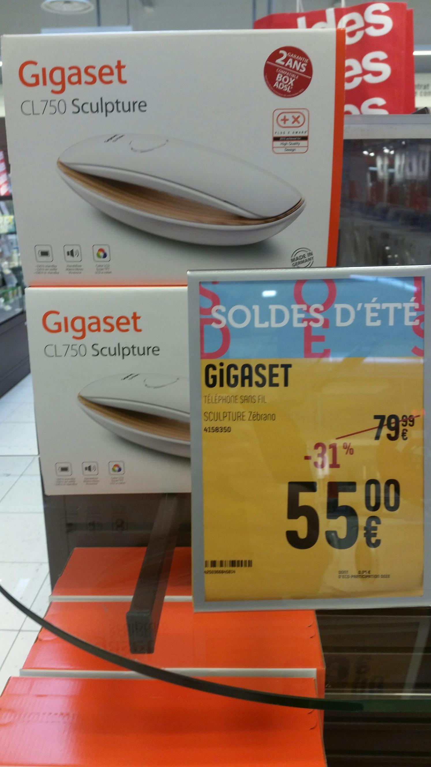Téléphone fixe Gigaset CL750 Sculpture (via ODR de 30€)