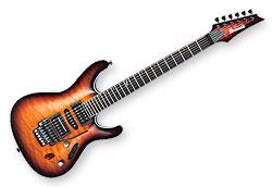 Guitares Electriques Ibanez S5470Q-RBB Prestige Japon - sunburst - avec étui