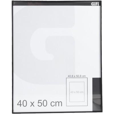 Cadre photos noir en aluminium 40x50cm