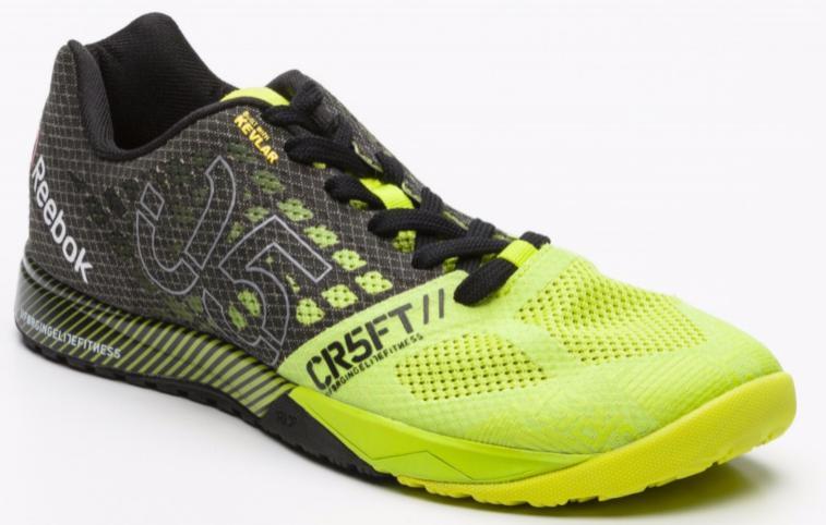 Chaussures de sport indoor Nano 5.0 jaune fluo et noir