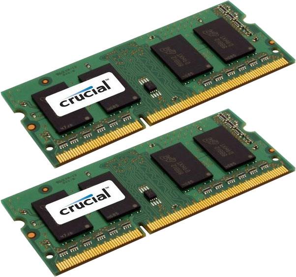 Pack de 2 barrettes de ram Crucial SO-DIMM 8Go (2x4Go) DDR3 1600 MHz CL11 garantie à vie (Via buyster)