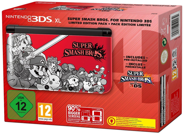Pack console Nintendo 3DSXL (rouge) et super smash bros (préinstallé)