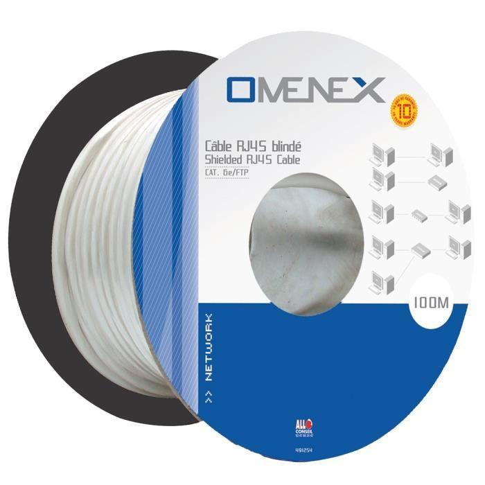 Bobine câble Ethernet catégorie 6 FTP 100m Omenex