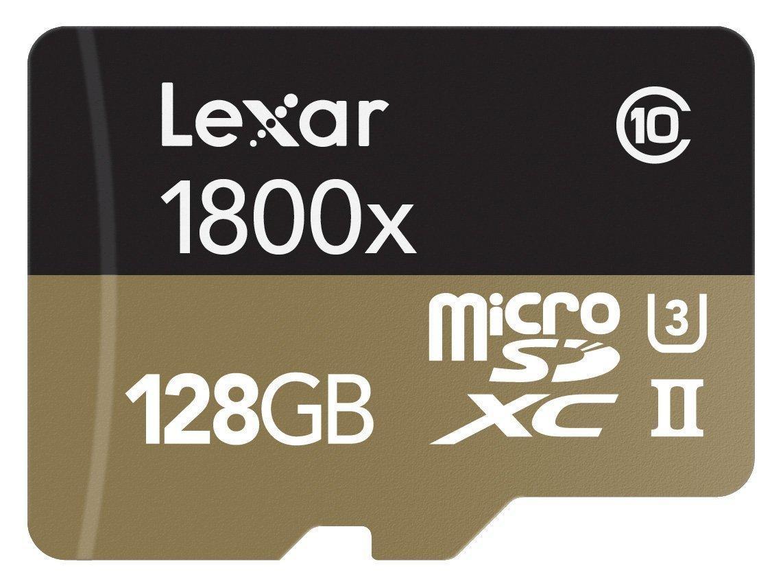 [Premium] Carte microSDXC Lexar Professional 1800x U3 UHS-II - 128 Go