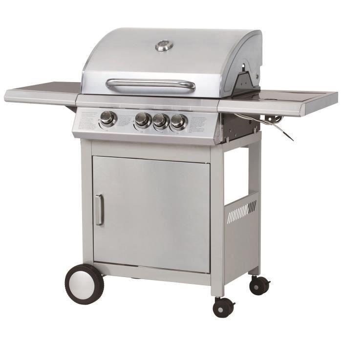 Barbecue Durban en inox - 3 feux et side burner