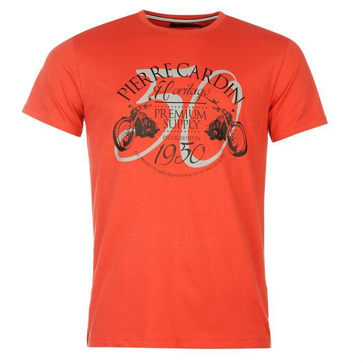 Sélection de tee-shirts Pierre Cardin en promotion - Ex : imprimé Heritage - Premium Supply (du S au XXL)