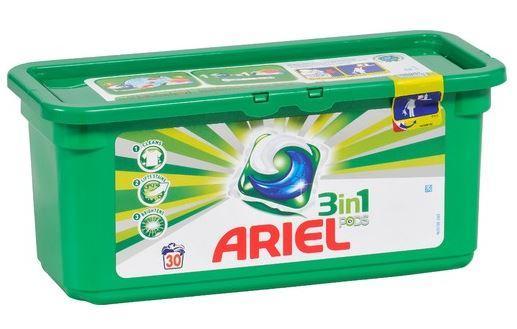 Opération 2ème produit offert - Ex : 2 boites de Lessive capsules 3 en 1 Ariel Pods (30 doses)