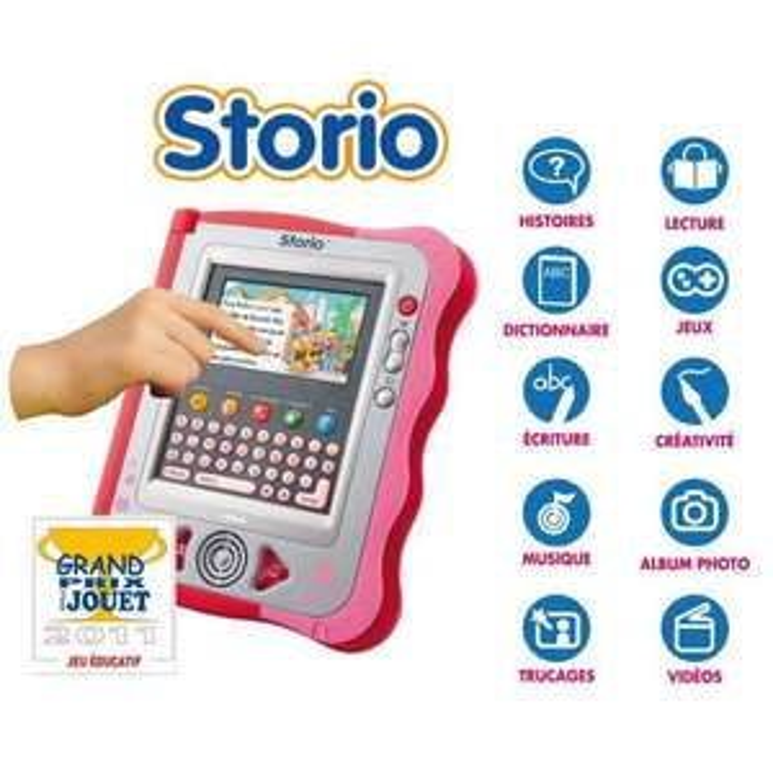 Console Vtech Storio Rose + Jeu Rufus
