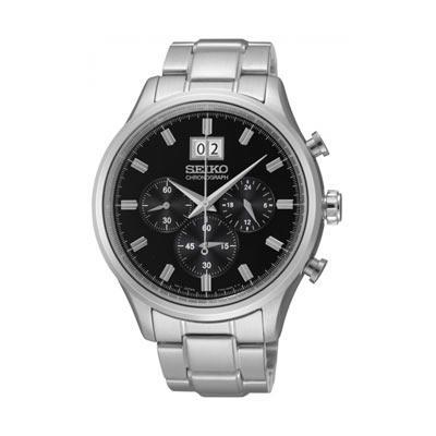 Sélection de montres Seiko en soldes - Ex: Chronographe,Etanche en Acier pour Hommes (Argent, Taille 210)