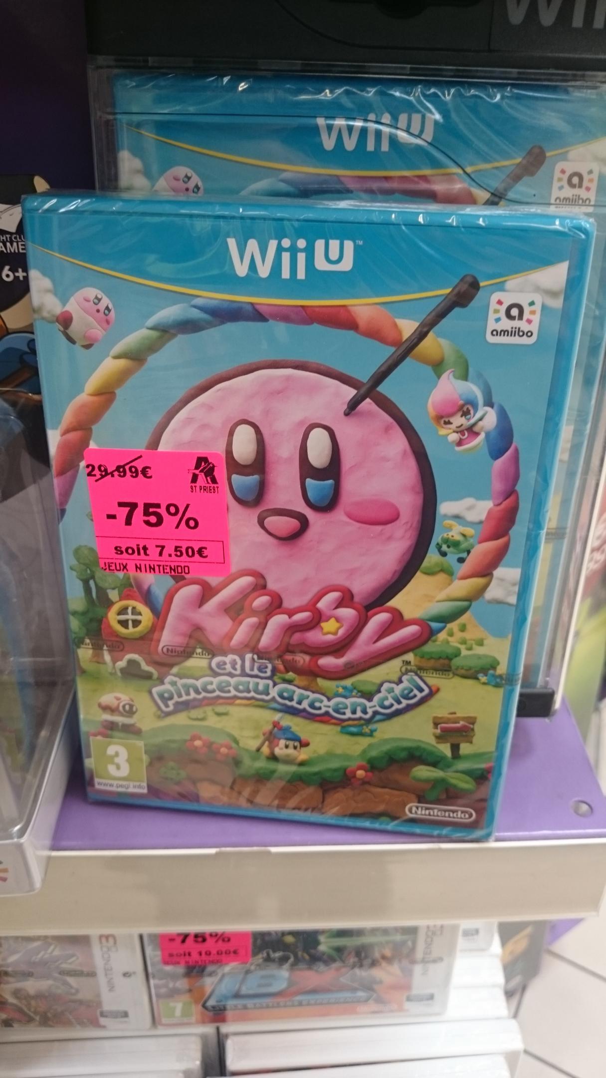 Sélection de jeux en promotion - Ex: Kirby et Le Pinceau arc-en-ciel sur Wii U et autres promos