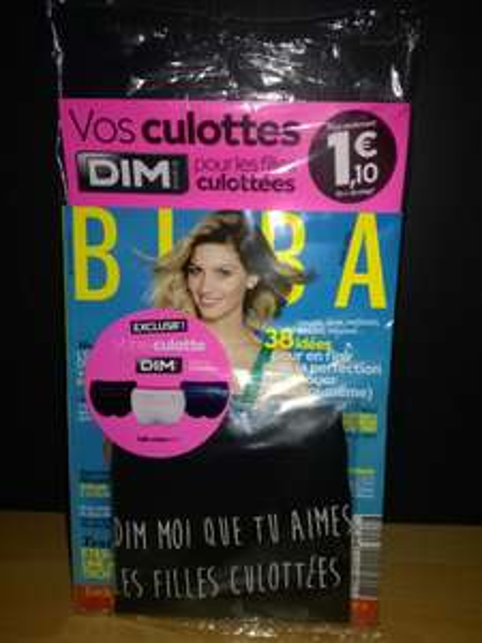 Magazine Biba d'août 2016 + culotte Dim (taille M, 3 modèles)