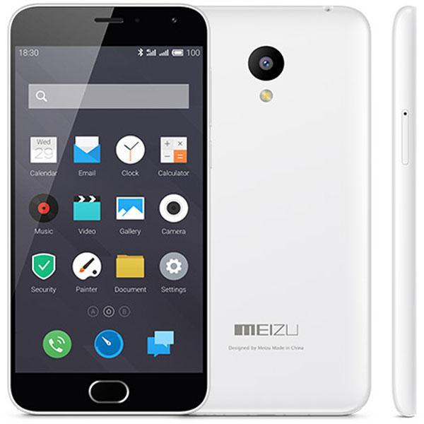 """Smartphone 5"""" Meizu M2 Mini (16 Go, blanc) + kit mains libres"""