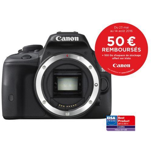 Appareil photo Reflex Canon EOS 100D - Boitier Nu, (via ODR 50€ + 100Go d'espace de stockage sur Irista))
