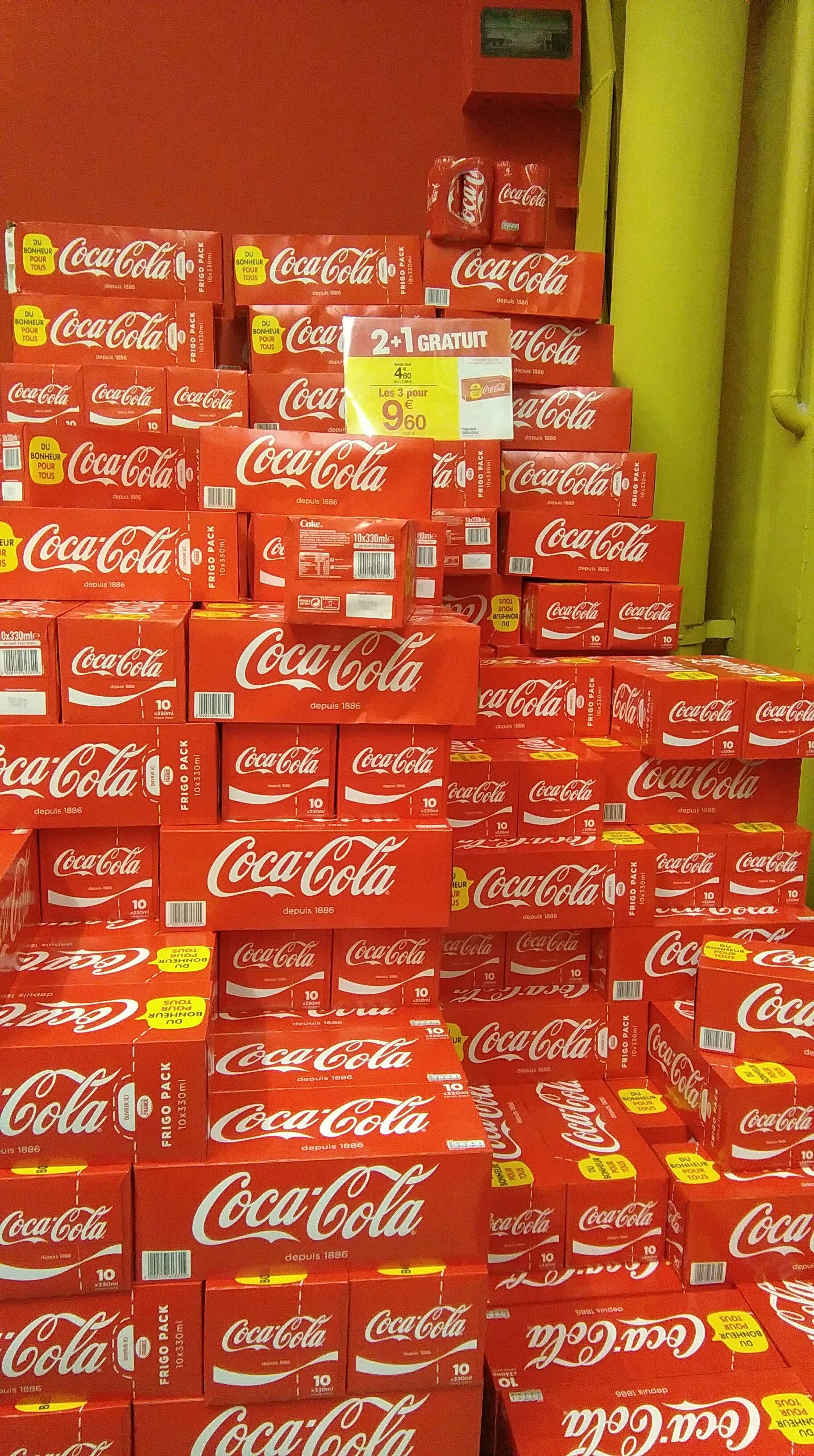 3 packs de 10 canettes Coca Cola (30 x 33cl)