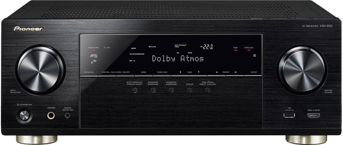 Ampli réseau HC 7.2 Pioneer VSX-930 - 2 sorties HDMI, Upscaler 4K/60hz, 3D, Dolby Atmos (5.2.2), MCACC / SubEQ, Spotify / Hi-Res