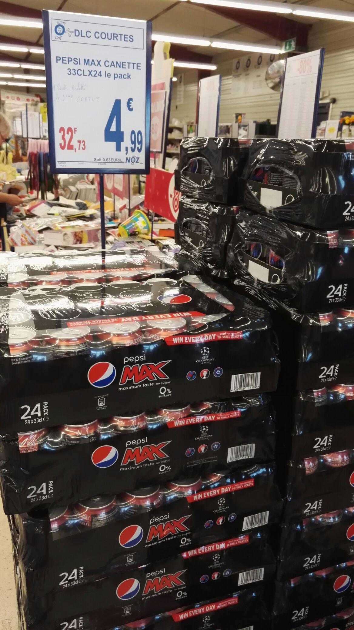 Pack de 48 canettes Pepsi Max sans sucre (48x33cl)