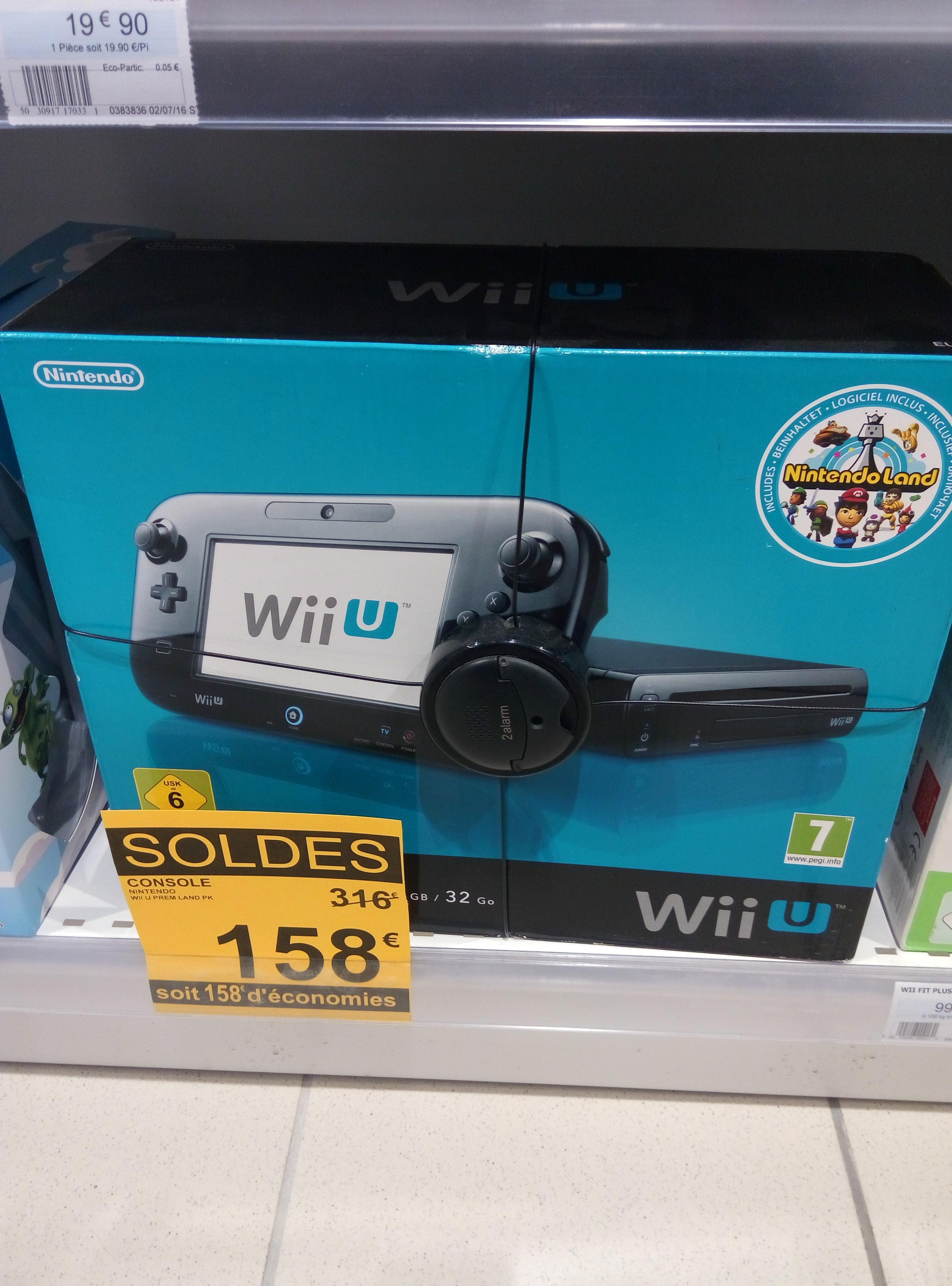 Console Nintendo Wii U 32 Go + NintendoLand (Dématérialisé)