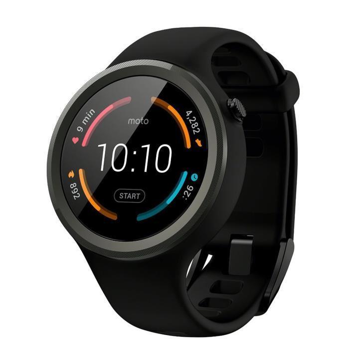 Montre connectée Motorola Moto 360 (2ème génération) - Noir