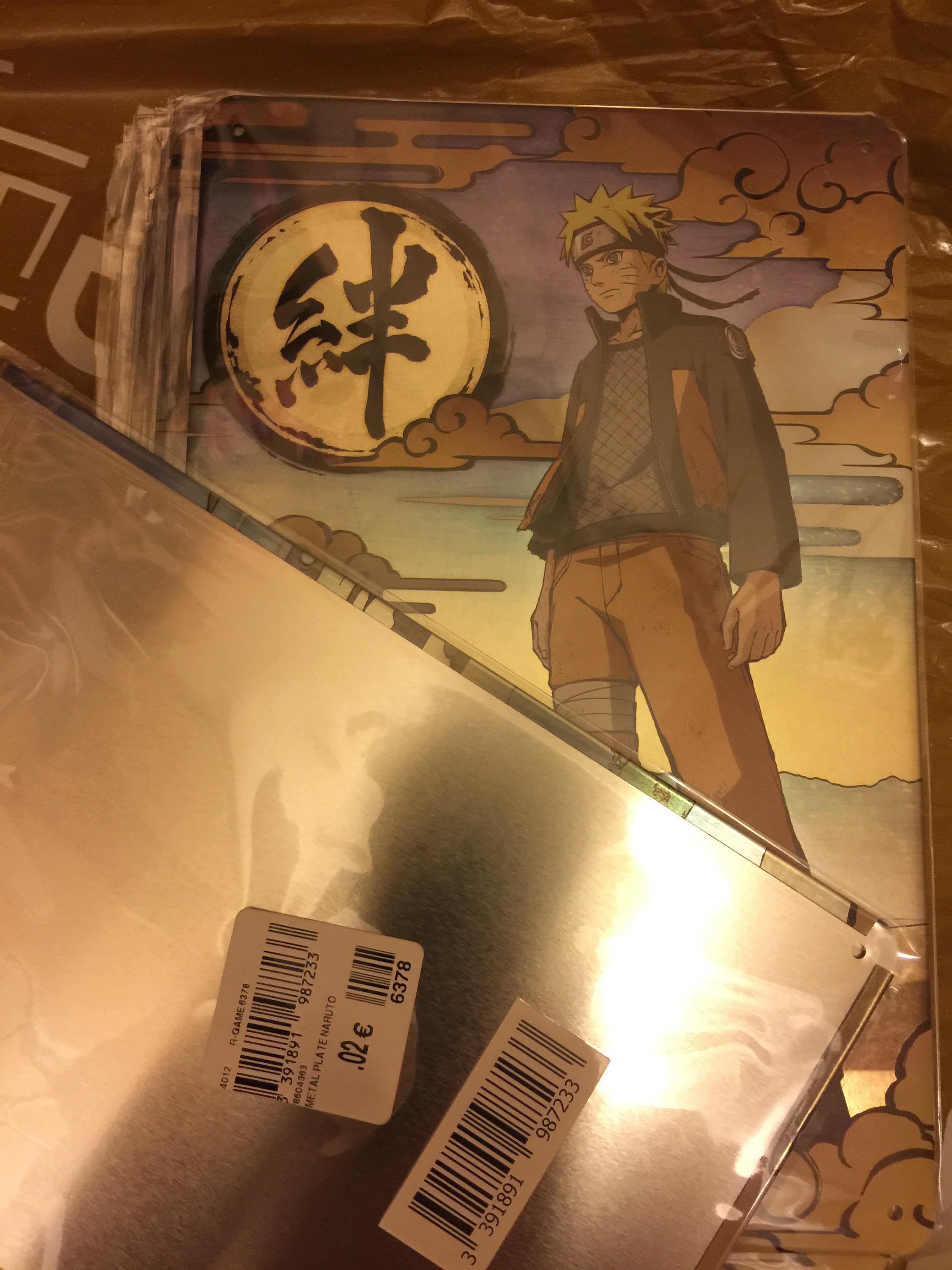 Plaque de métal Naruto - 17x26cm