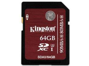 Carte mémoire SDXC Kingston UHS-1 U3 Classe 10 - 64 Go