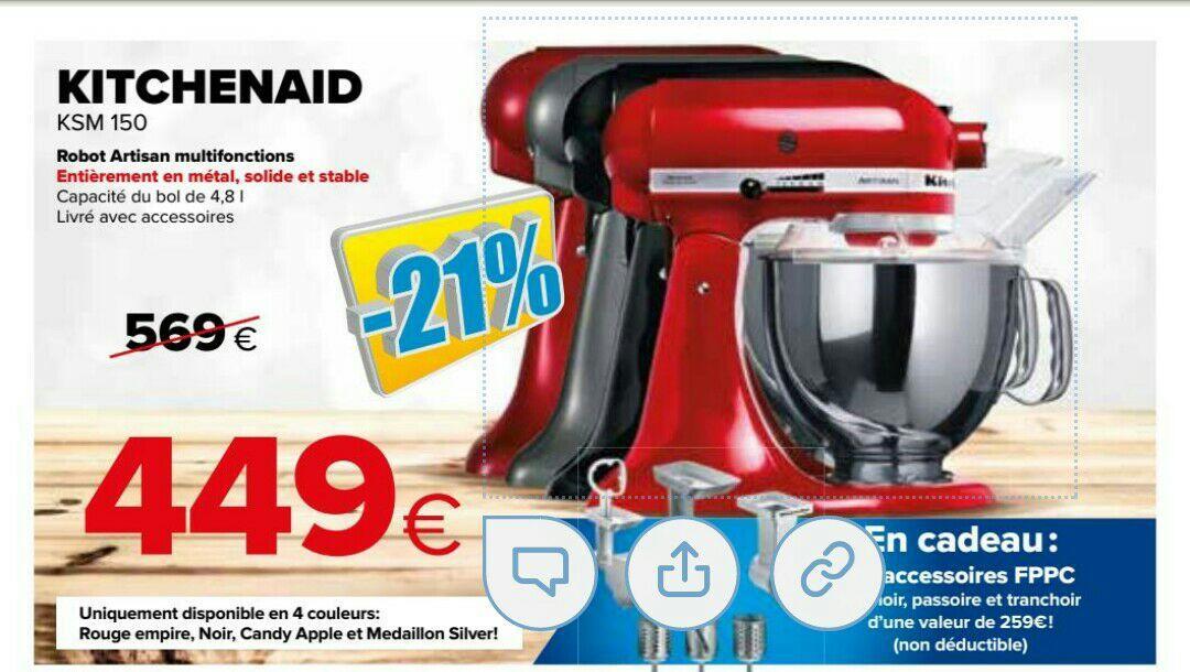 Robot Kitchenaid Artisan KSM150 + pack accessoires FPPC