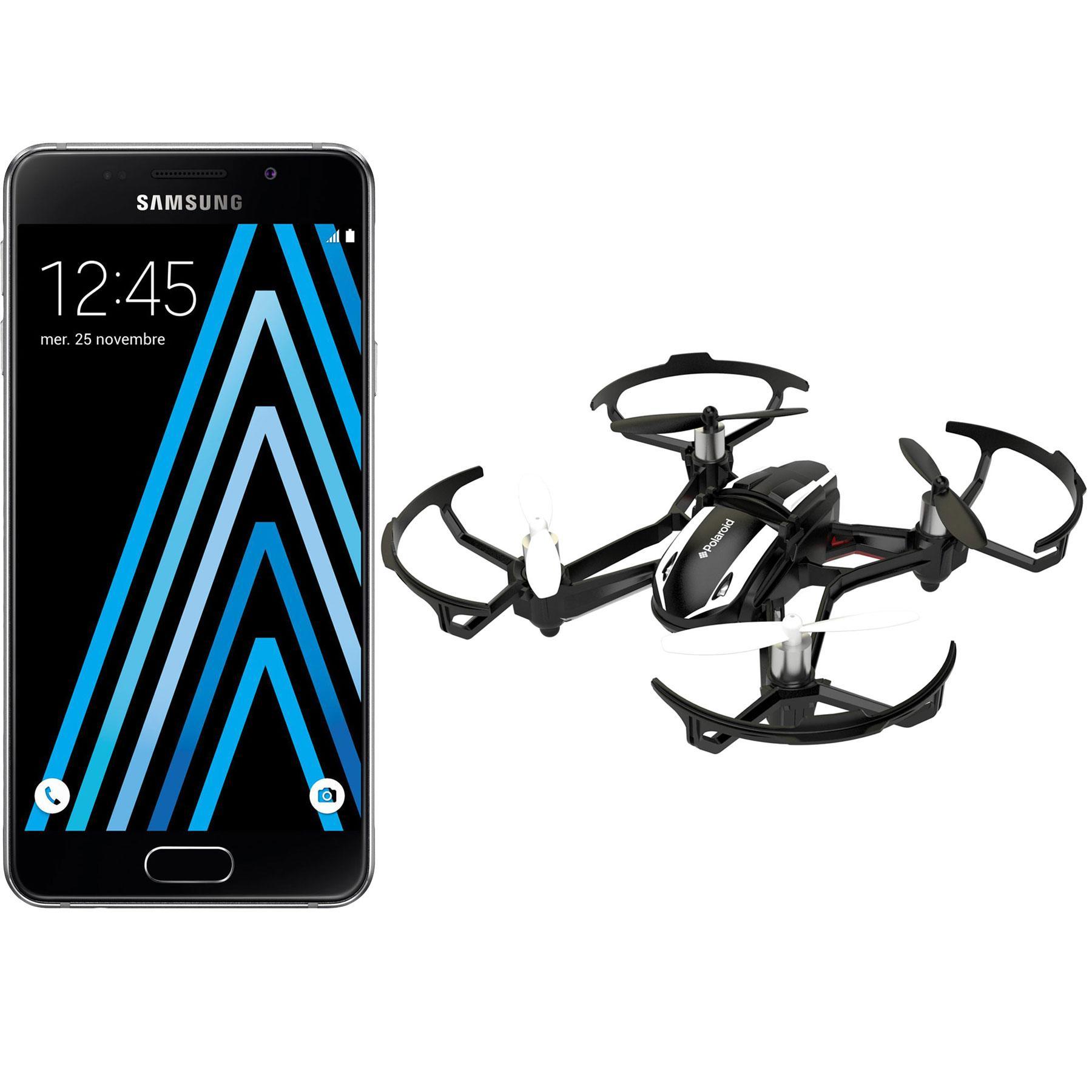 "Smartphone 4.7"" Samsung Galaxy A3 2016 + Drone Polaroid Blackbird HD (via ODR de 30€)"