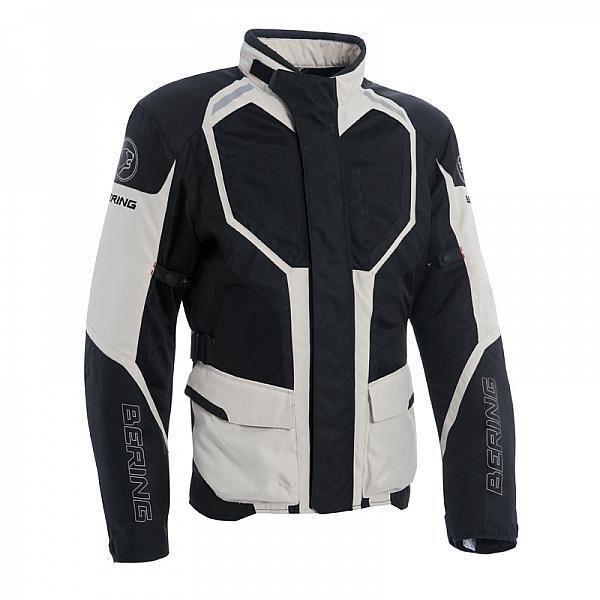 Blouson Moto Rokka Bering - Noir Beige (Tailles S )